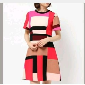 Kate Spade 2 Pink Colorblock Effie A Line Dress